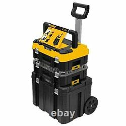 Extra large Tool Box On Wheels Rolling Mobile Essential Rolling Workshop Black