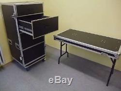 FD-1 Schubladen Transport Case Rack Wagen Box mit Tisch, Transportcase Toolcase