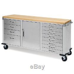 Garage Rolling Metal Steel Tool Box Storage Cabinet Workbench