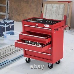 Garage Tool Organizer Rolling Cart Drawers Workshop Storage Trolley Cabinet Red