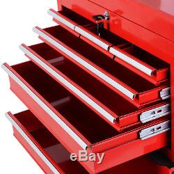 Goplus Removable Top Chest Box Rolling Tool Storage Cabinet Sliding Drawers New