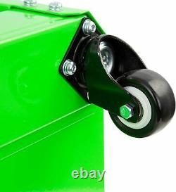 Green Black Work Stool Rolling Toolbox Seat Shop Storage Creeper Mechanic Garage