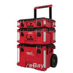 Heavy Duty Rolling Tool Box 3 Piece Set Storage Workshop Handyman Repairman Best