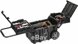 Heavy Duty Rolling Tool Box Chest Storage On Wheels With Expanding Lid Storage