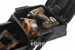 Heavy Tool Box Duty Rolling Storage On Wheels Expanding Lid Storage 57 litres
