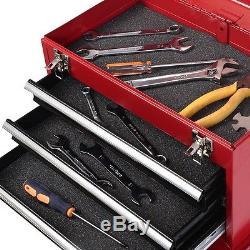 Home Mini Tool Chest & Cabinet Storage Box Rolling Garage Toolbox Organizer 2Pcs
