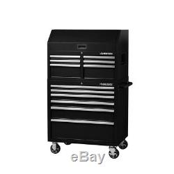 Husky 12-Drawer Tool Chest Box Cabinet Combo Parts Storage Mobile Rolling New