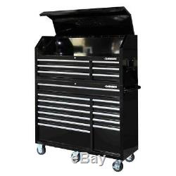 Husky 18 Drawer Tool Box and Rolling Cabinet Combo