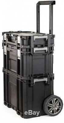 Husky 22 in. Connect Rolling System Portable Tool Box Storage Crate Organization