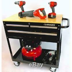Husky 3-Drawer Rolling Tool Cart Hardwood Top Workbench Tool Roll-away Local P/U
