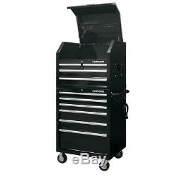 Husky Deep Combination Tool Chest Rolling Cabinet Set Gloss Black (10-Drawer)