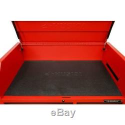 Husky Deep Combination Tool Chest Rolling Cabinet Set Matte Red (12-Drawer)