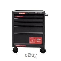 Husky Rolling Cabinet Tool Box Chest 27 in. W 5-Drawer Textured Black