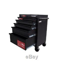 Husky Rolling Cabinet Tool Chest 27 in. 5-Drawer 5 Frame Steel Gauge Black