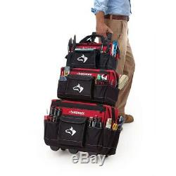 Husky Rolling Tool Tote Mobile Toolbox Cart 18 inch + 2 Bonus Bags 16 & 14