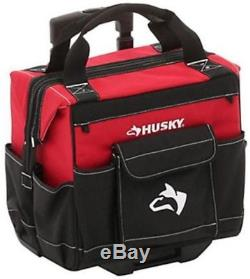 Husky Rolling Tool Tote Mobile Toolbox Cart Organizer With Bonus 12 in Bag