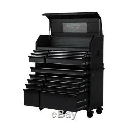 Husky Tool Chest Rolling Cabinet Combo 52 in. W x 21.7 in. D 15-Drawer Black