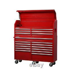 Husky Tool Chest Rolling Cabinet Combo 61 in. W x 18 in. D 18-Drawer Black