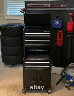 Hyper Tough 20-In 5-Drawer Rolling Tool Chest & Cabinet Combo with Riser