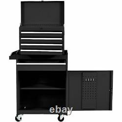 IRONMAX 2 in 1 Utility Rolling Tool Organize Cabinet Box Tool Chest Drawer Black