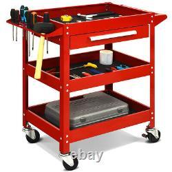 IRONMAX Three Tray Rolling Tool Cart Mechanic Cabinet Storage ToolBox Organizer