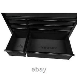 Industrial 15 Drawer Tool Chest and Rolling Cabinet with LED Light in Black