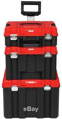 Job Tool Box Storage Mobile Hard Plastic Toolbox Portable Rolling Boxes Wheels