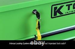 K Tool International KTI75148 Heavy Duty Green Rolling Tool Cart with Wheels
