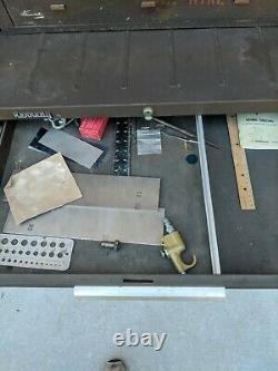 KENNEDY 295 Rolling 5 Drawer Tool Box, 520 Top Box, MC-125590 2-Drwr Middle Box