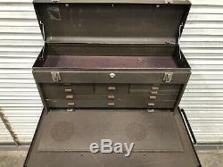 Kennedy 295 Rolling 5 Drawer Tool Box + 526 8 Drawer Machinists Top Box #5