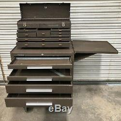 Kennedy 295 Rolling 5 Drawer Tool Box + 526 8 Drawer Machinists Top Box + Ds-1