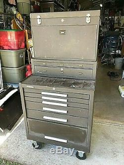 Kennedy Machinist Stack-on tool 3 box system USA made 60 tall roll around