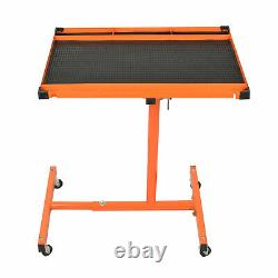 LT018 Heavy Duty Adjustable Work Table with Drawer, 220 lbs Capacity Rolling Tool