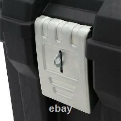 Large Rolling Tool Box Organizer Portable Workshop Cart Storage Bin Chest Case