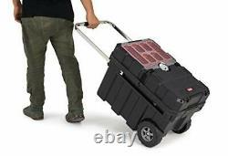Masterloader Plastic Portable Rolling Organizer Tool Storage Box Durable