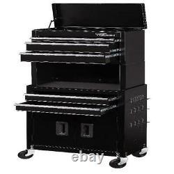 Mechanics 5 Drawer Rolling Tool Chest Box Cabinet Combo Riser Garage Storage New