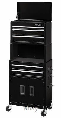 Mechanics 5-Drawer Rolling Tool Storage Boxes Chest & Cabinet Combo with Riser New