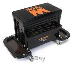 Mechanics Creeper Seat Rolling Stool Garage Shop Car Work Tool Box Chest Storage
