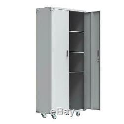 Metal Rolling Garage Tool Box File Storage Cabinet Box Door with wheels Heavy Duty
