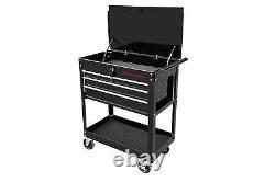 Metal Rolling Tool Cart 4 Drawer Cabinet Storage ToolBox Portable Mechanic Lock