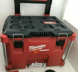 Milwaukee 2698-26 M18 18V 6 Tool Combo Kit with 2 Batteries Packout Rolling Box GR
