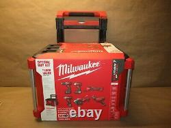 Milwaukee 2698-26PO 18V Lithium-Ion Cordless 6-Tool Combo Kit withRolling tool box