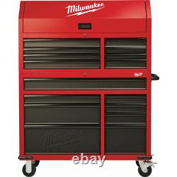 Milwaukee 46 in 16-Drawer Steel Tool Chest Rolling Cabinet Organizer With Wheels