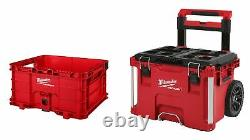 Milwaukee 48-22-8426 PACKOUT 22 Rolling Tool Box with48-22-8440 PACKOUT Crate
