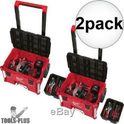 Milwaukee 48-22-8426 PACKOUT Rolling Tool Box 2x New