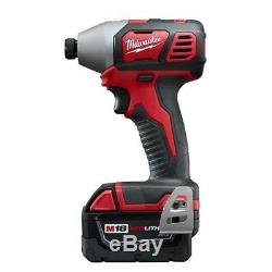 Milwaukee M18 18-Volt Lithium-Ion Hammer Drill Hex Impact Saw Rolling Tool Box