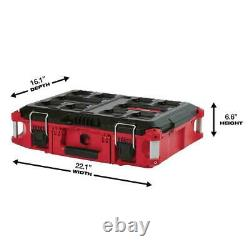 Milwaukee PACKOUT Modular Tool Box Storage System 22 in. Stackable Tool Storage