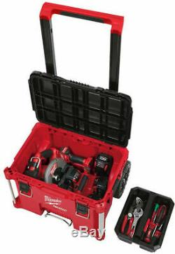 Milwaukee PACKOUT Rolling Modular 3 Tool Box Bundle Stackable Storage System NEW