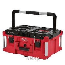 Milwaukee Packout Modular Tool Box Storage Organizer System Portable Rolling Red