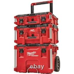 Milwaukee Portable Tool Box 22 in. Red Lockable Water Resistant Polypropylene
